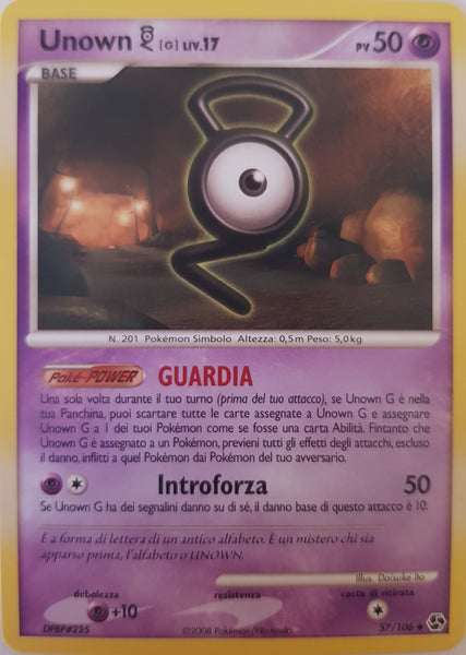 Unown G Italian - 57/106 - Uncommon