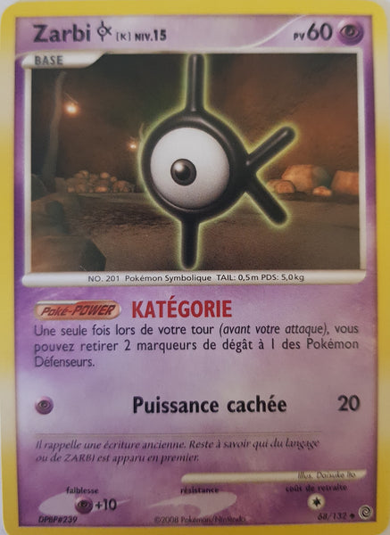 Unown K French - 68/132 - Uncommon