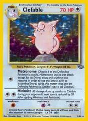 Clefable - 1/64 - Holo Rare - Heavily Played