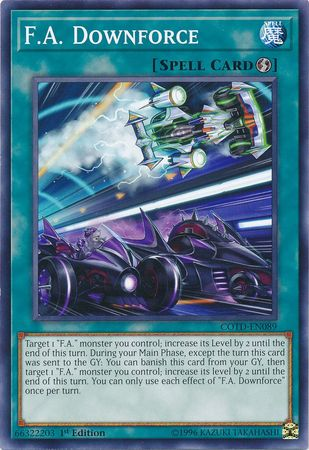 F.A. Downforce - COTD-EN089 - Common 1st Edition