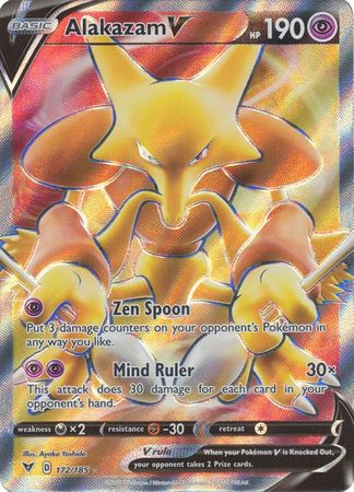 Alakazam V Full Art - 172/185 - Ultra Rare