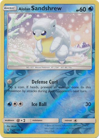 Alolan Sandshrew - 19/145 - Common Reverse Holo