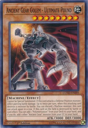 Ancient Gear Golem - COTD-EN099 - Common 1st Edition