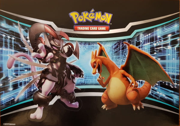 Sticker Sheet - Armored Mewtwo Charizard - New, Unused