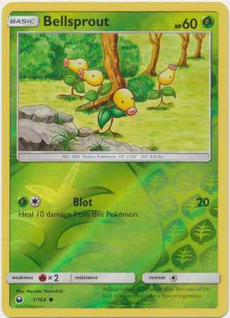 Bellsprout - 1/168 - Common Reverse Holo