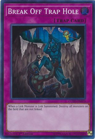 Break Off Trap Hole - COTD-EN075 - Super Rare 1st Edition