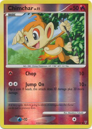 Chimchar - 97/147 - Common Reverse Holo