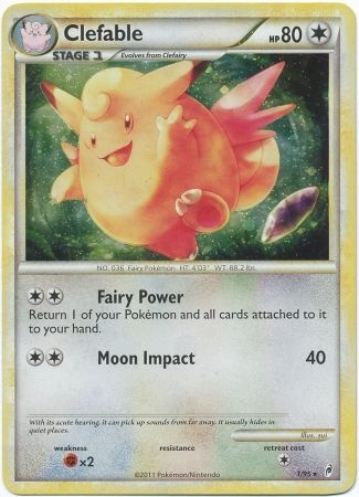 Clefable - 1/95 - Holo Rare