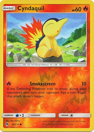Cyndaquil - 39/214 - Common Reverse Holo