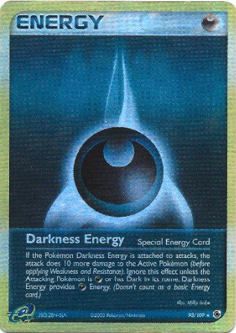 Darkness Energy - 93/109 - Rare Reverse Holo - Lightly Played