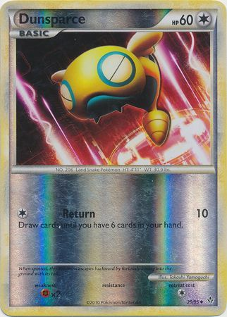 Dunsparce - 29/95 - Uncommon Reverse Holo - light play