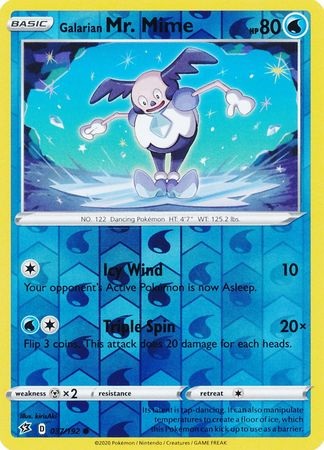 Galarian Mr. Mime - 37/192 - Common Reverse Holo
