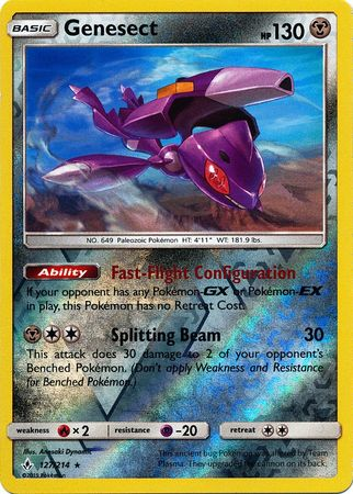 Genesect - 127/214 - Rare Reverse Holo