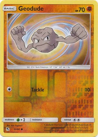 Geodude - 33/68 - Common Reverse Holo