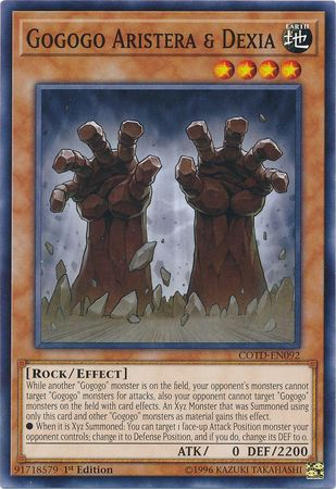Gogogo Aristera & Dexia - COTD-EN092 - Common 1st Edition