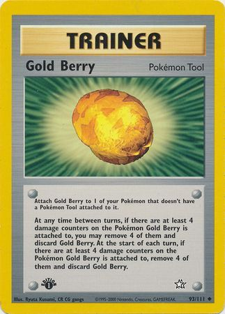 Gold Berry 1st Edition - 93/111 - Uncommon