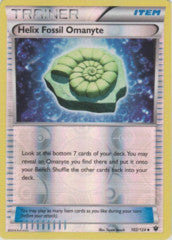 102/124 - Helix Fossil Omanyte - Uncommon Reverse Holo