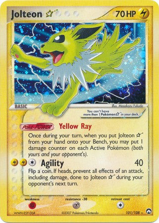 Jolteon Gold Star - 101/108 - Ultra Rare - Played