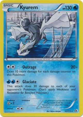 Kyurem - 43/113 - Holo Rare - Played