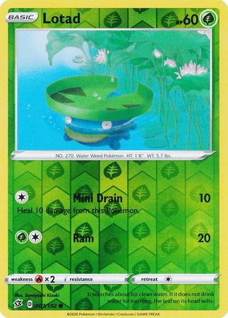 Lotad - 7/192 - Common Reverse Holo