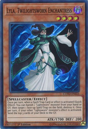 Lyla, Twilightsworn Enchantress - COTD-EN025 - Super Rare 1st Edition