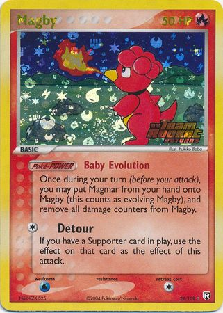 Magby - 24/109 - Rare Reverse Holo