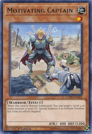 Motivating Captain - COTD-EN031 - Rare 1st Edition