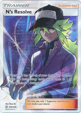 N's Resolve Full Art - 232/236 - Ultra Rare