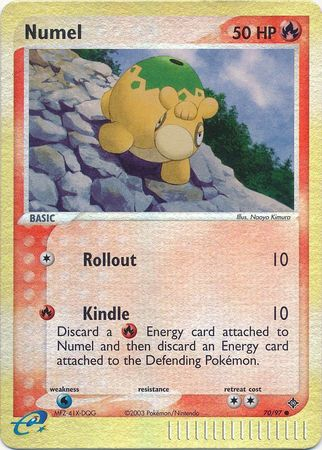 Numel - 70/97 - Common Reverse Holo - Lightly Played