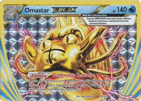Omastar BREAK - 19/124 - Ultra Rare