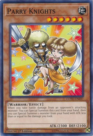Parry Knights - COTD-EN037 - Common 1st Edition