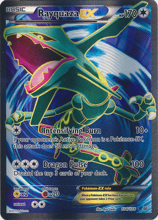 Rayquaza Ex Full Art - 104/108 - Ultra Rare