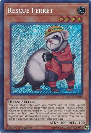 Rescue Ferret - COTD-EN029 - Secret Rare 1st Edition