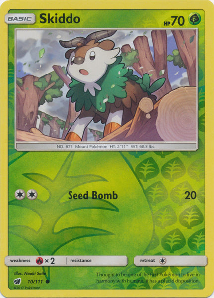 Skiddo - 10/111 - Common Reverse Holo