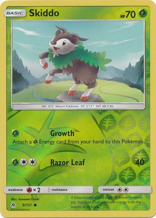Skiddo - 9/131 - Common Reverse Holo