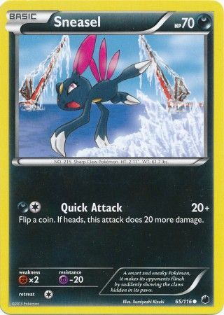 Sneasel - 65/116 - Common