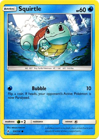 Squirtle - 33/214 - Common