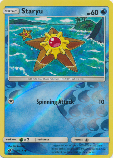 Staryu - 15/111 - Common Reverse Holo