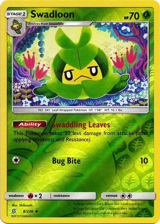 Swadloon - 8/236 - Uncommon Reverse Holo
