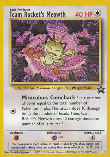 Team Rocket's Meowth - 18 - Black Star Promo