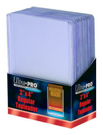 "Ultra Pro Toploader - 3"" x 4"" - Regular Clear - 25 box"