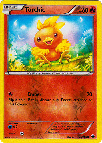 Torchic - 25/160 - Common Reverse Holo