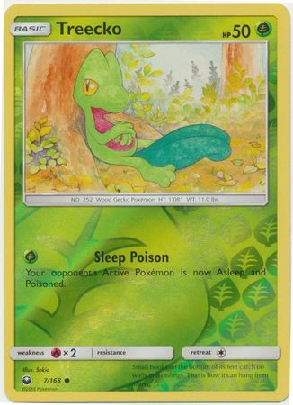 Treecko - 7/168 - Common Reverse Holo