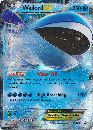 Wailord Ex - 38/160 - Ultra Rare