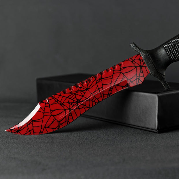 Crimson Web Bowie Knife