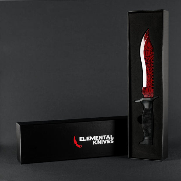 Crimson Web Bowie Knife-Real Video Game Knife Skins-Elemental Knives
