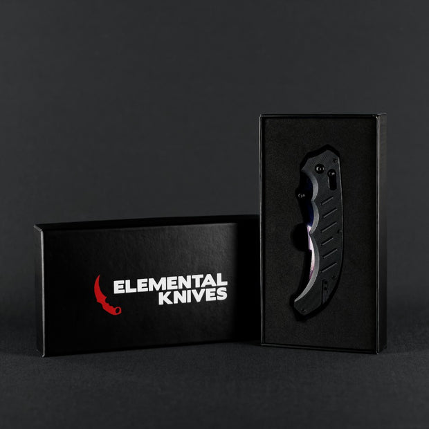 Doppler Phase 2 Flip Knife-Real Video Game Knife Skins-Elemental Knives