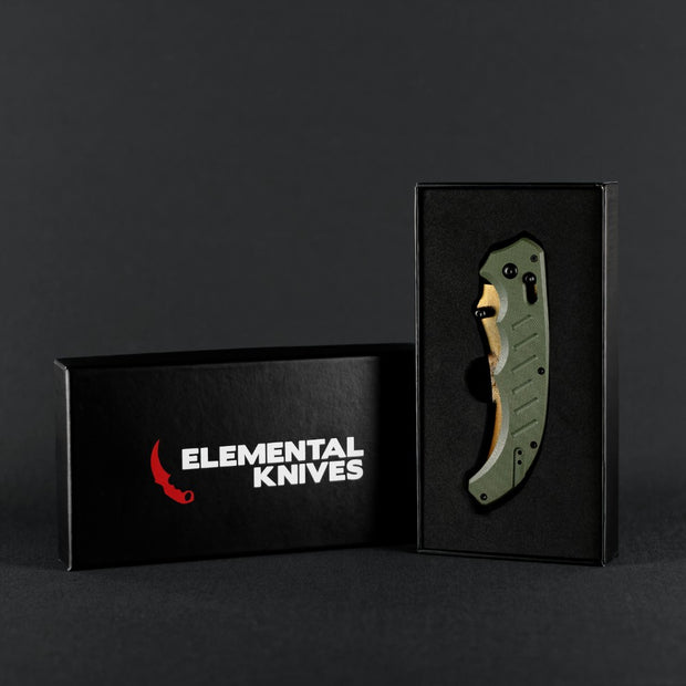 Lore Flip Knife-Real Video Game Knife Skins-Elemental Knives