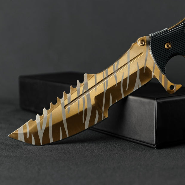 Tiger Tooth Huntsman Knife-Real Video Game Knife Skins-Elemental Knives