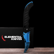 Blue Steel Flip Knife-Real Video Game Knife Skins-Elemental Knives
